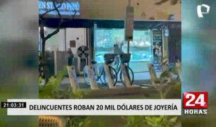 Miraflores: testigos de robo en joyería señalaron que las autoridades demoraron en llegar