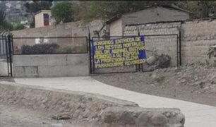 Ayacucho: aparece banderola exigiendo que cadáver de terrorista Guzmán sea entregado a su esposa