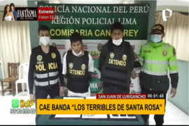 "SJL: Cae banda ""Los terribles de Santa Rosa"""