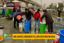 SJL: distrito lleva ocho días sin agua