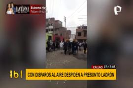 Callao: despiden a presunto ladrón con disparos