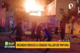 Lince: incendio reduce a cenizas taller de pintura