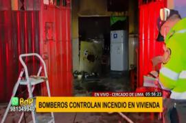 Cercado de Lima: bomberos controlan incendio en vivienda