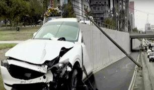 San Isidro: choque entre camionetas genera cierre temporal de Vía Expresa