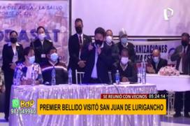 SJL: premier Guido Bellido visitó el distrito