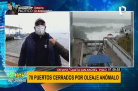 Pisco: 70 puertos cerrados por oleajes anómalos