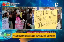 SJL: vecinos marchan ante la escasez de agua en el distrito