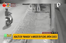 Magdalena del Mar: delincuentes armados asaltaron a un par amigos