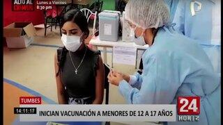 Tumbes: miles de padres acuden con sus hijos a la Vacunatón de 12 a 17 años