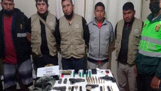 Barranca: capturan sujetos que tenían en su poder armas, municiones e indumentaria policial