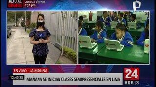 Este miércoles 15 inician las clases semipresenciales en 16 colegios de Lima