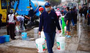 SJL: afectados por cortes de agua no pagarían recibo del mes de setiembre