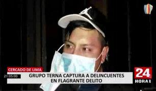 Capturan a 'Chino' y 'Naco', peligrosos raqueteros que asaltaban en el Cercado de Lima