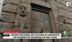 Cercado de Lima: Museo Nacional de Cultura se convirtió en guarida de personas de mal vivir