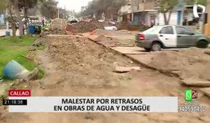 Callao: obras inconclusas de agua y desagüe causan malestar en los vecinos