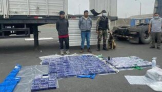 Cañete: incautaron más de 150 kilos de droga oculta en falso techo de un camión