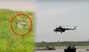 Tres heridos tras aterrizaje forzoso de helicóptero en Ucayali