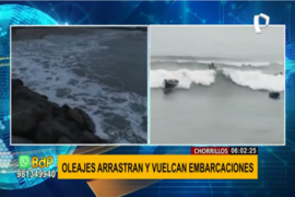 Chorrillos: pescadores no pueden trabajar debido a oleajes