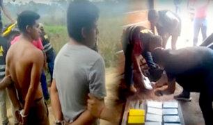 Madre de Dios: caen sujetos con droga cerca de la frontera con Bolivia