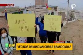 Chorrillos: vecinos denuncian obras abandonadas