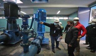 Premier Bellido participó en inicio de restablecimiento de agua para SJL
