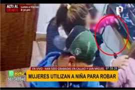 Mujeres utilizan a niña para robar en San Miguel y Callao