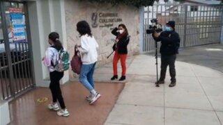 16 colegios de Lima abrieron sus puertas a clases semipresenciales