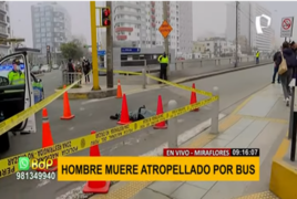 Miraflores: joven que iba en scooter murió atropellado por un bus