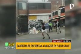 San Miguel: barristas de Sport Boys y Sporting Cristal se enfrentaron a balazos en plena calle