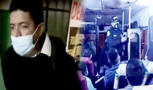 PNP detiene a uno de los tres delincuentes que secuestraron un bus con 40 pasajeros