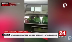 Miraflores: Así intervinieron a chofer que atropelló y mató a joven en scooter