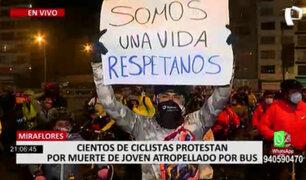 Miraflores: realizan plantón contra la violencia vial tras atropello y muerte de joven