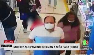 Callao: mujer vuelve a utilizar a niña para robar en dos establecimientos