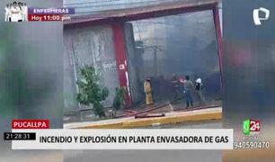 Pucallpa: bomberos y policías lograron controlar incendio en planta envasadora de gas