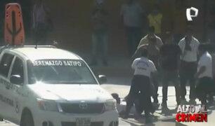 Huancayo: intervienen a taxista que minutos después protagoniza pelea en plena vía pública