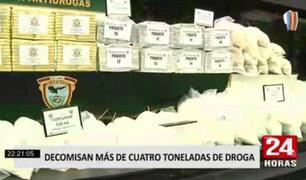 Dirandro decomisó 4 toneladas de droga valorizada en más de $3 millones durante el último mes