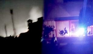 Pucallpa: se reaviva incendio de planta de gas durante la noche