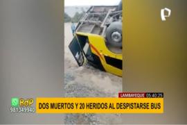 Lambayeque: despiste de bus deja dos muertos y varios heridos