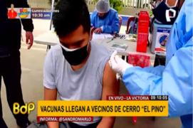 La Victoria: vacunas llegan a vecinos de Cerro El Pino