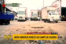 La Victoria: obras abandonadas en calles del distrito