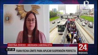 """Oviedo sobre fin de la suspensión perfecta: """"El Gobierno ha enfocado mal la medida"""""""