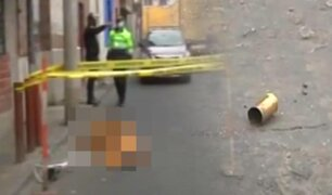 Hombre muere de un balazo al enfrentarse a vigilante en Barrios Altos