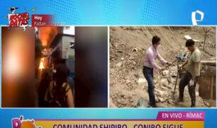 Rímac: comunidad shipibo-conibo no recibe la ayuda prometida tras incendio de 2016