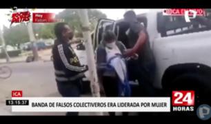 Ica: capturan a presunta banda de falsos colectiveros
