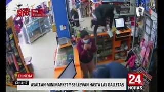 Chincha: cámara de seguridad registra violento asalto en minimarket