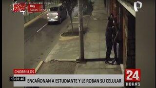 Chorrillos: delincuente encañona en la cabeza a menor para robarle su celular