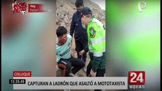 Collique: capturan a delincuente que asaltó a mototaxista