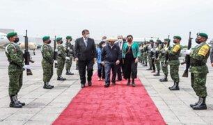 Presidente Pedro Castillo arribó a México y participará en cumbre presidencial