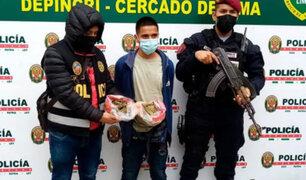 Cercado de Lima: capturan muchacho que llevaba marihuana  camuflada en bolsas de panetón