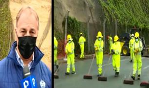 Costa Verde: alcalde Muñoz supervisó los trabajos tras deslizamientos